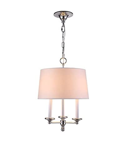 Urban Lights Crawford 3-Light Pendant Lamp, Polished Nickel