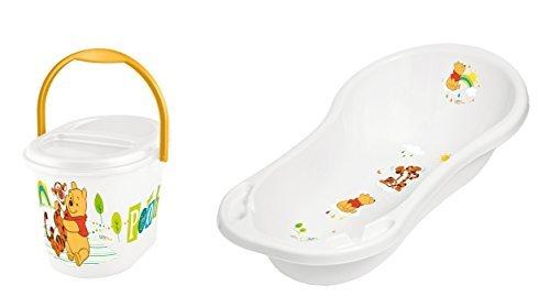 Juegos De Baño De Winnie Pooh:Juego de 2 Set De Baño XXL + Contendedor para pañales Disney Winnie