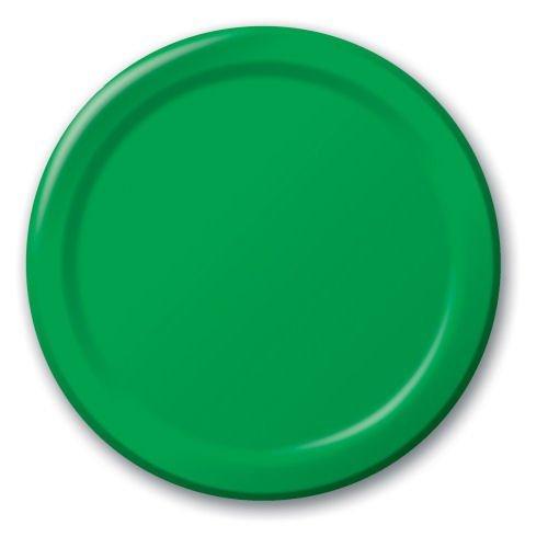 Festive Green Dessert Plates 24ct - 1