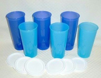 Blue Tupperware Cups Like Si Robertson Drinks Out Of On Duck Dynasty