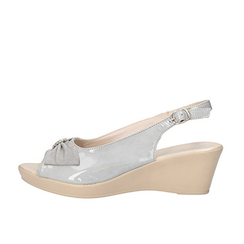 SUSIMODA sandali donna 37 EU grigio vernice camoscio AG968