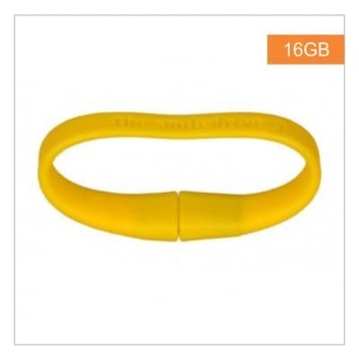 8GB FANCY DESIGNER WRISTBAND USB PENDRIVE (YELLOW)