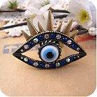 JE284 Persönlichkeit Ring, Weird Große Augen Ring, Clown Augen Ring