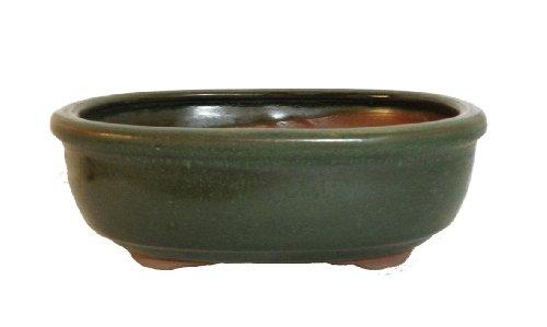 18cm / 7 inch Superior quality glazed ceramic bonsai pot (ls3)