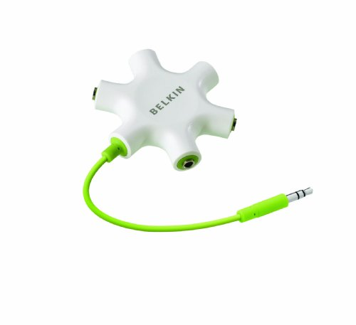 Belkin RockStar 5-Way 3.5-mm Headphone Splitter (White)