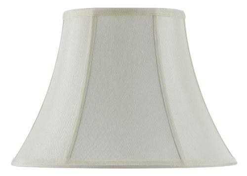 Cal Lighting SH-8104/12-EG 12-Inch Bottom Vertical Piped Basic Bell Shade, Egg Shell