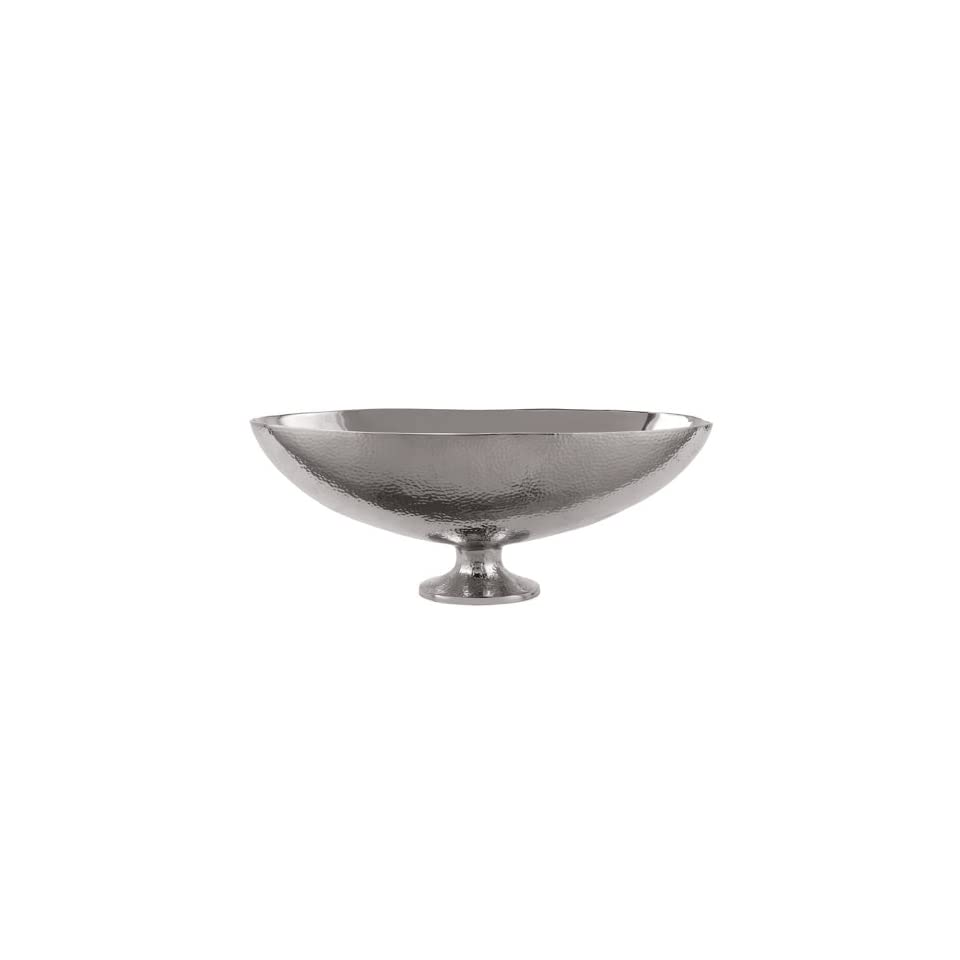 Torre and Tagus Helio Hammered Pedestal Boat Bowl