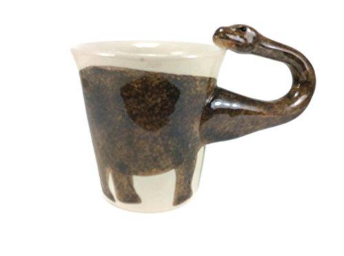 Mug Dinosaur Brontosaurus Enamel Beach Cartoon Painted Milk Glass Coffee cup Cute Mug Pottery Mugs Anime Tea Cup Giant Mug Spirit Animal for Kid (Dragon Ball Z Metal Cooler compare prices)