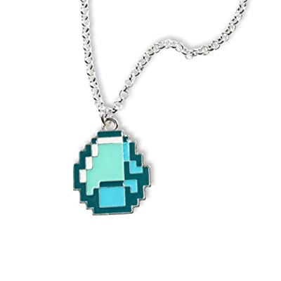 Minecraft - Diamond Necklace - Metal Chain & Pendant