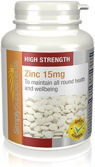 SimplySupplements Zinc 15mg|Support for Immune & Skin Health|360 Tablets from Simply Supplements