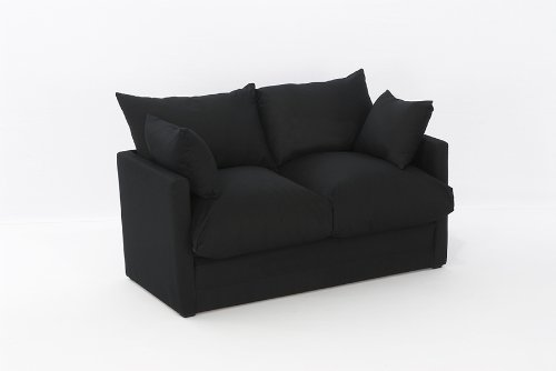 Leanne-Sofa-Bed-in-BLACK-Cotton-Drill