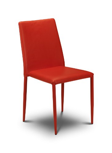 Julian Bowen Jazz Stacking Chair, Red (Set of 4 Chairs)