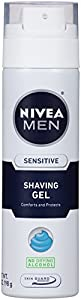 NIVEA Men Sensitive Shaving Gel, 7 Ounce (Pack of 3)