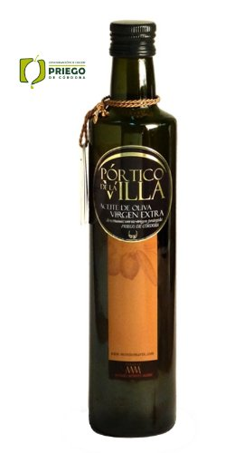 Portico de la Villa- Award Winning Cold Pressed EVOO Extra Virgin Olive Oil, 2011-2012 Harvest, 17-Ounce Glass Bottle