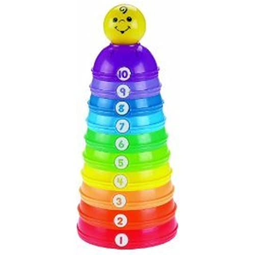 Fisher-Price (휘셔 프라이스) Brilliant Basics Stack & Roll Cups 피규어 장난감 인형 (병행수입)