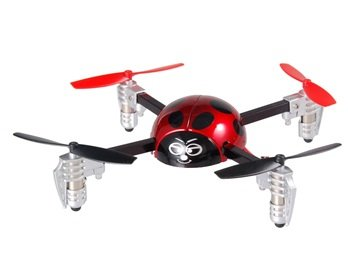 Mini 3D 2.4GHz 4-Channel RC Ladybug Helicopter with Built-in Gyroscope