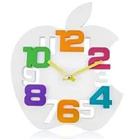 Apple ! ホワイトアップル 壁掛け時計 アートデザインクロック