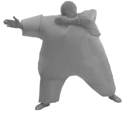 [Inflatable Chub Suit Costume: Gray Select Size: One Size Fits Most] (Inflatable Chub Suit Costume)
