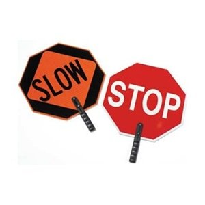 Paddle Sign, Stop/Slow, 18 In. H