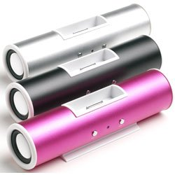 iSound iTube - Portable Speakers for iPod and MP3 Players - PINK COLOUR