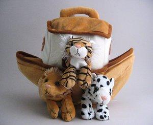 Plush Animal Noah's Ark Animal Set Kids Child Toy
