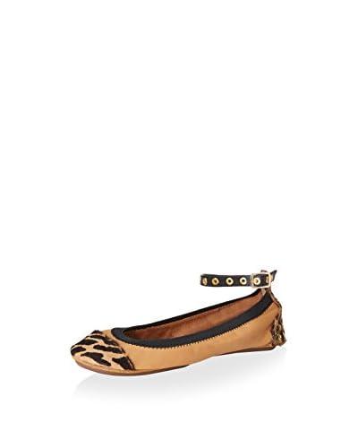 Yosi Samra Women's Abbey Ankle Strap Flat