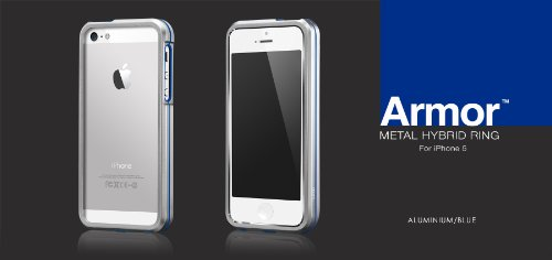 Great Price Armor Metal Hybrid Ring for iPhone 5 (Aluminium/Blue)