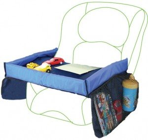 Travel Tray Car Seat Play Tray - Perfect for Snack and Play - Includes 2 Attached Side Pouches - LIFETIME WARRANTY