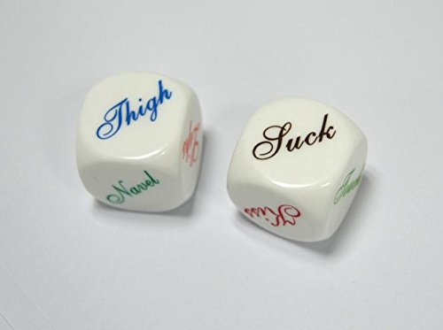 GtMALL Couple Dice Game Toy- Bachelor Party- Fun Sweethearts Gift (Set of 2)
