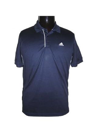 Buy Adidas Mens Tennis Sequencials Galaxy Polo (Navy White) by adidas