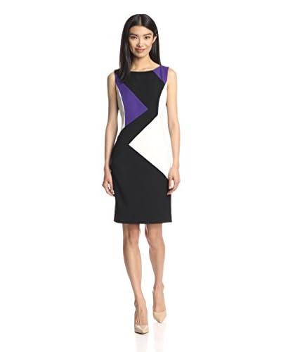 Ellen Tracy Women's Colorblock Sheath Dress