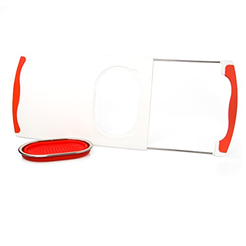 Over The Sink Cutting Board With Collapsible Colander And