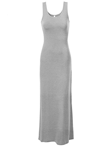 J.Tomson Womens Sleeveless Maxi Dress Heather Gray Small