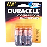 Duracell 04261 Coppertop AAA Battery, 8 Pack