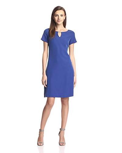 Sharagano Women's Hardware Detail Dress  [Fantasia Blue]