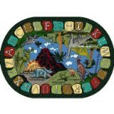 Joy Carpets Kid Essentials Early Childhood Round We Dig Dinosaurs Rug, Multicolored, 7'7""