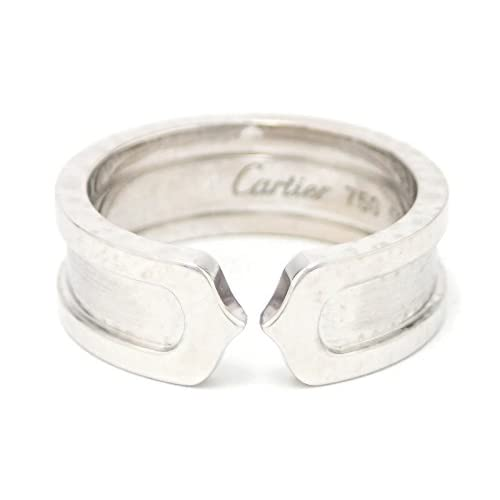 [カルティエ] Cartier C2 リング SM ウエディングリング 指輪 K18WG 750WG ホワイトゴールド #50 B4040550 [中古]