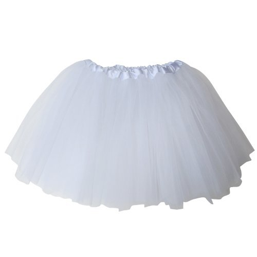 Ballerina Basic Girls Dance Dress-Up Princess Fairy Costume Dance Recital Tutu (White) by So Sydney