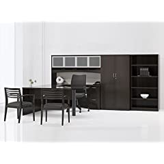 INSIGNIA OFFICE DESK WITH WARDROBE AND BOOKSHELF