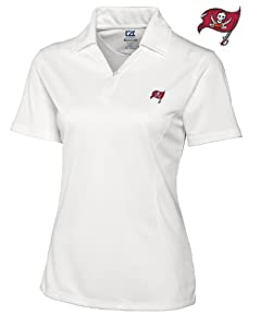 Tampa Bay Buccaneers Ladies Ladies Drytec Genre Polo White by Cutter & Buck
