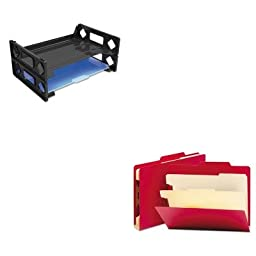 KITSMD14003UNV08100 - Value Kit - Smead Top Tab Classification Folders (SMD14003) and Universal Side Load Letter Desk Tray (UNV08100)