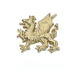 Pince à cravate 11x11mm en or jaune 375/1000 dragon gallois