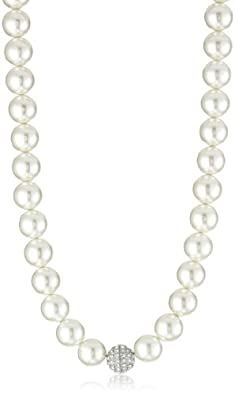 Nina Bridal Delphine Glass Pearl and Crystal Necklace