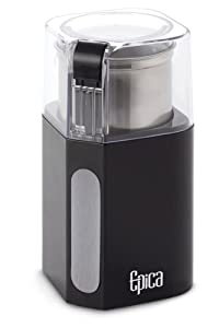 Epica Electric Coffee Grinder & Spice Grinder -Stainless Steel Blades and Removable Grinding Cup for Easy Pouring- Strongest Motor on the Market 250 Watt For Fastest and Most Efficient Grinding from EPI