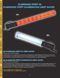 LED 5-Stage Safety Baton, White/Red/Blue