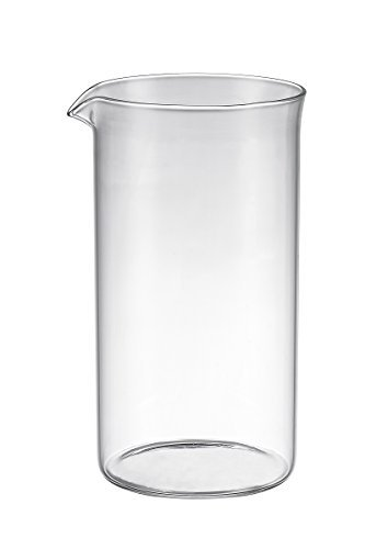 Bruntmor Universal Replacement beaker Spare Heat & Shock resistant Borosilicate Glass Carafe for French Press Coffee Maker, 8-cup, 34-ounce (Fits most Bodum's and all other 8 cup French Press that has a drip spout) (Borosilicate French Press compare prices)