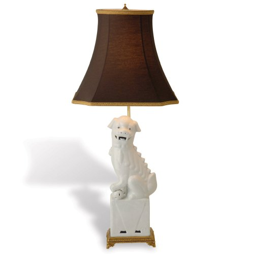 Port 68 Foo Dog Lamp Right, White, 29-Inch Tall