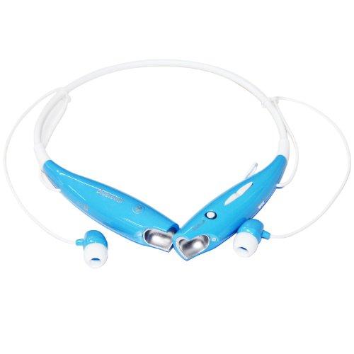 Iwoo Wireless Bluetooth Oem Universal Stereo Headset Headphone Neckband Earbud Blue