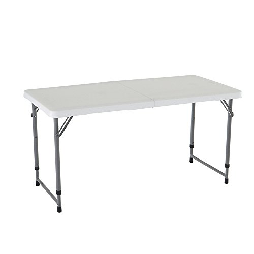 Small Folding Table : Small Portable Table Folding Utility Adjustable Rectangular Outdoor ...