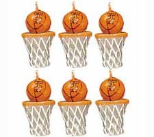 Basketball Candles and Cake Decorations - Pack of 6 - 1